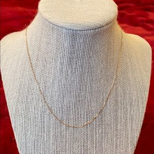 """18"""" Solid 14k Gold Box Chain"""